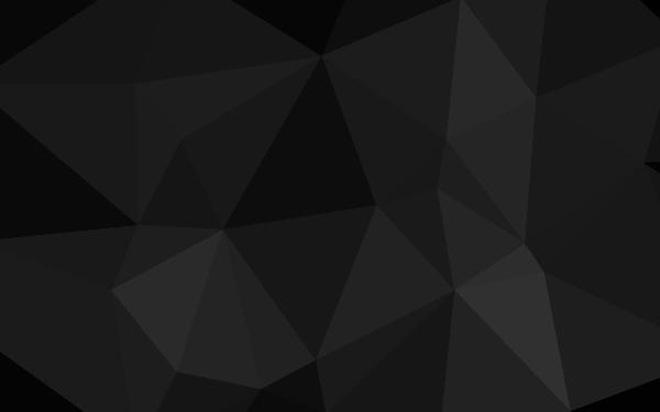 Black Polygon Header